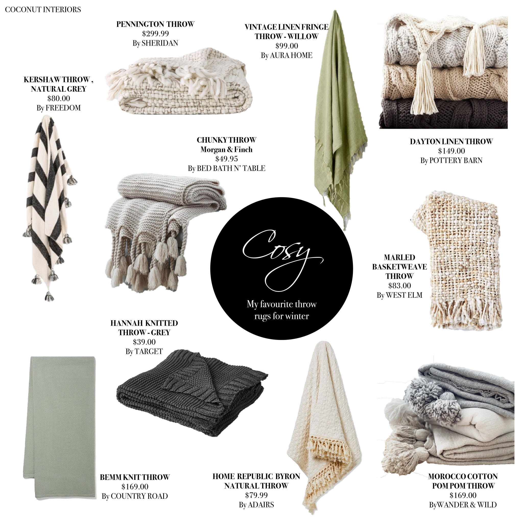 Cosy THROWS MOODBOARD